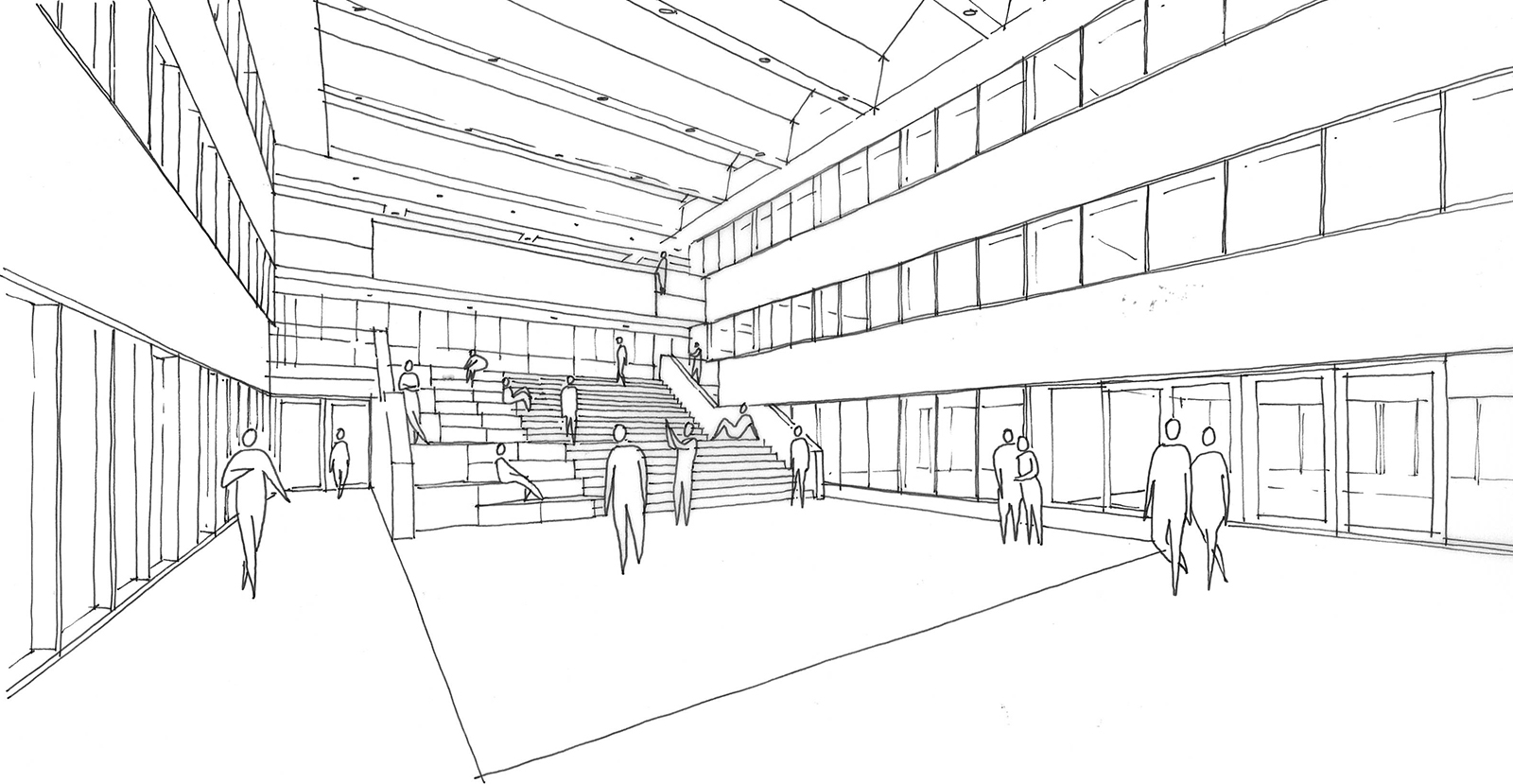 Merlet-College-schets-atrium-met-hoofdtrap