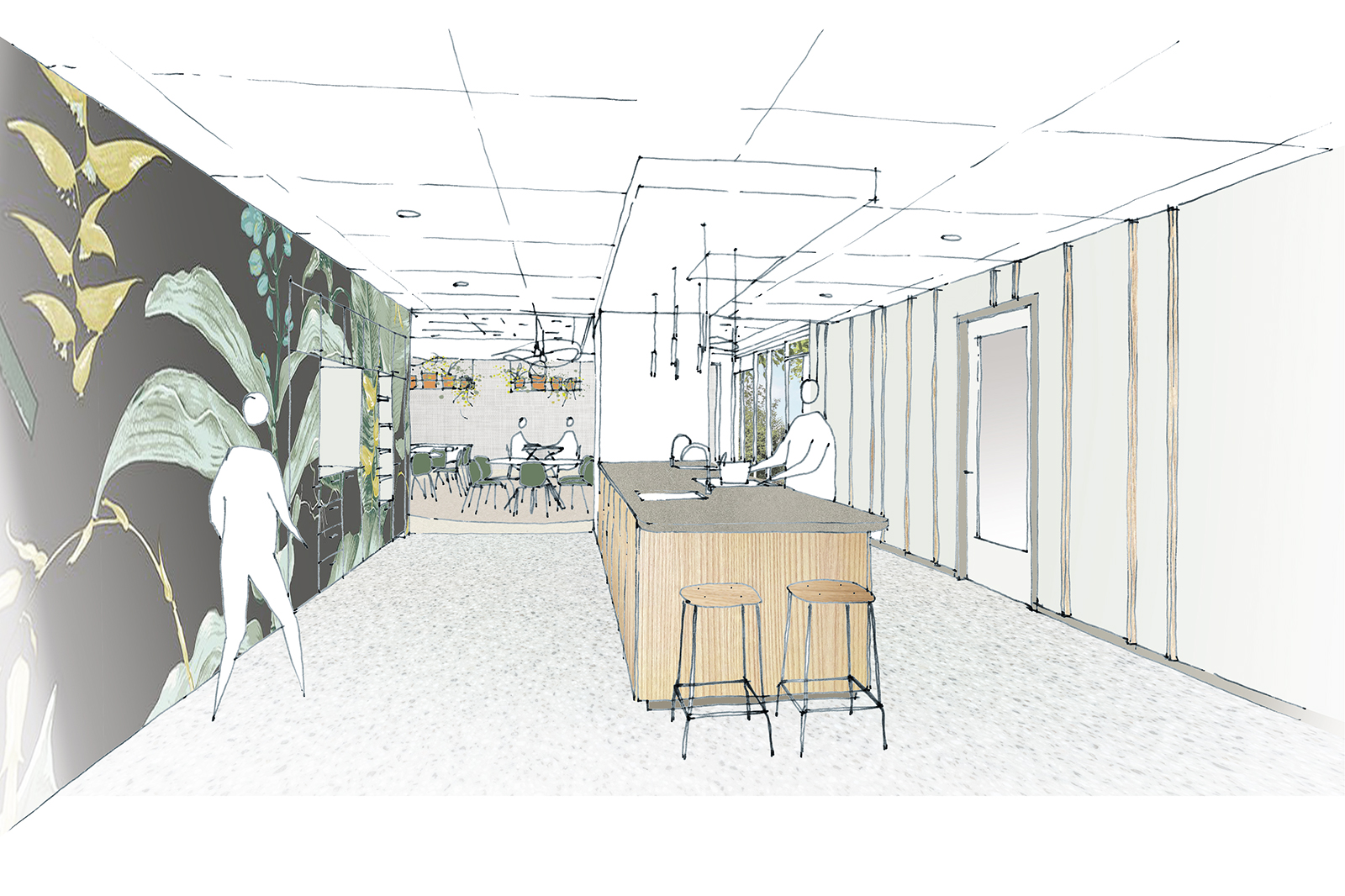 StM-Woon-en-Dagcentrum-schets-proeflokaal-vanuit-keuken