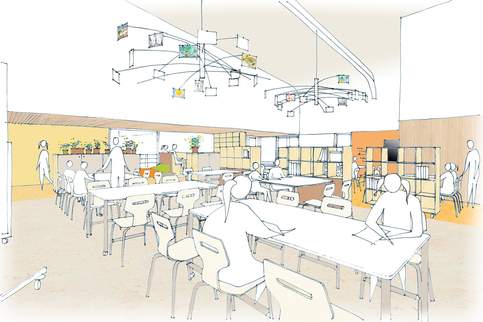 StM-AMA-Kindcentrum-De-Samenstroom-schets-bovenbouwcluster