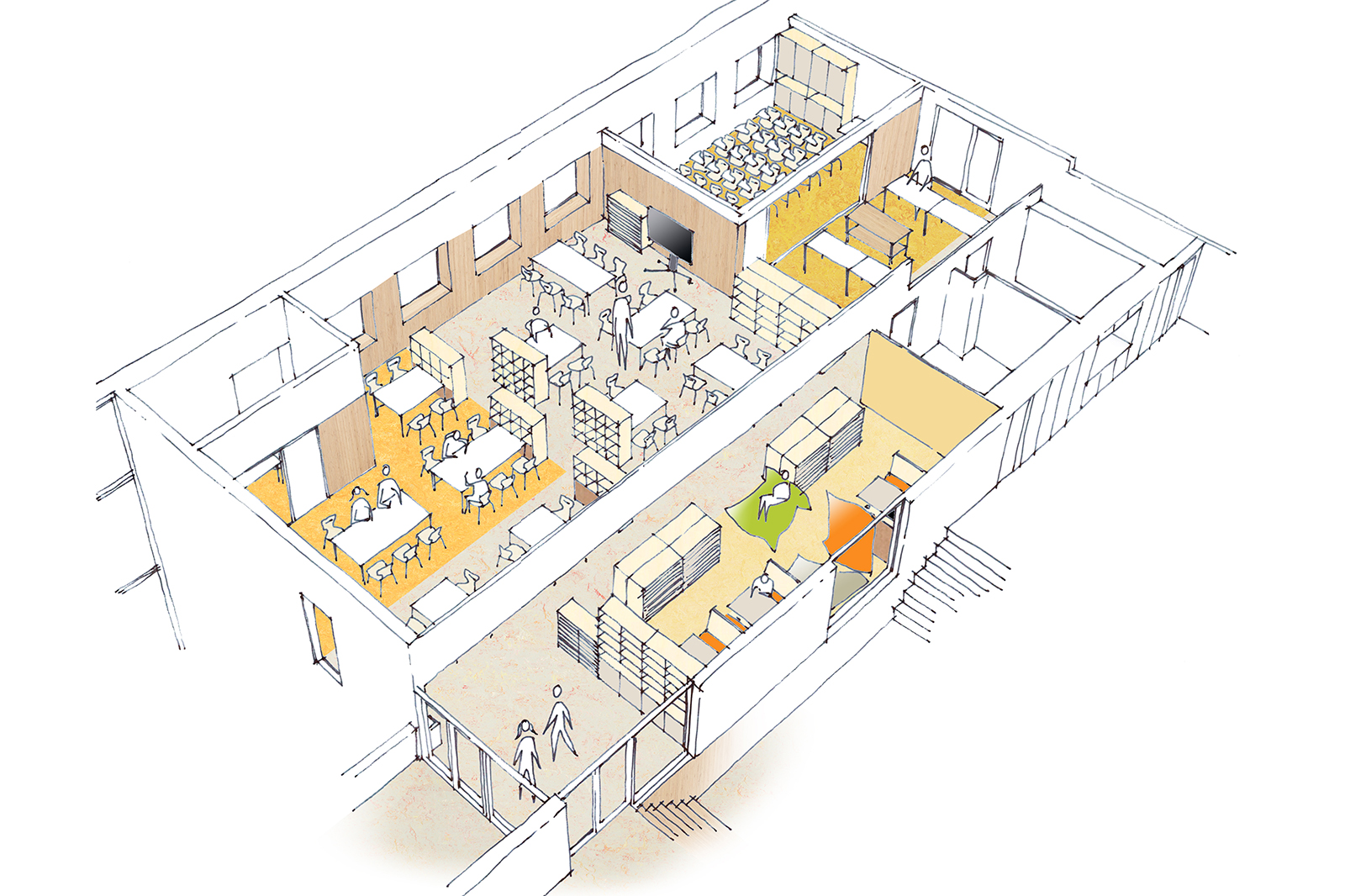StM-AMA-Kindcentrum-De-Samenstroom-vogelvlucht-bovenbouwcluster